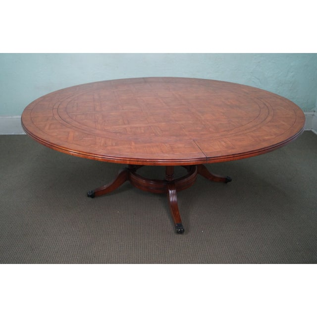 Guy Chaddock Parquet Top Extension Dining Table - Image 8 of 10
