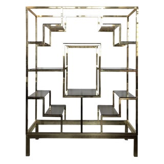 Large Italian Brass Etagere For Sale