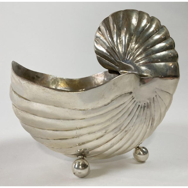 Silver Silver Nautilus Shell Planter For Sale - Image 8 of 8
