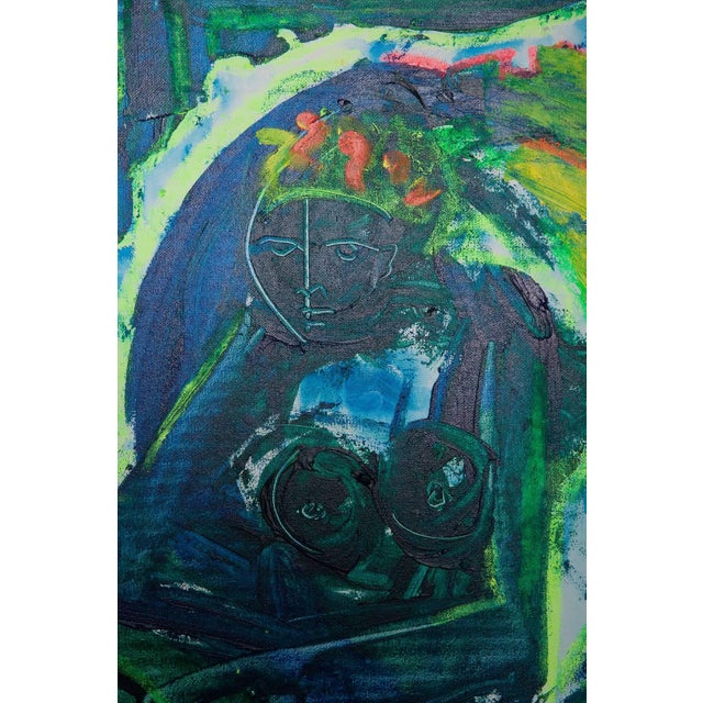 Untitled Abstract Nude Painting by Neith Nevelson For Sale - Image 4 of 11
