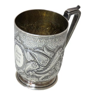 19th Century English Sterling Silver Youth Mug For Sale