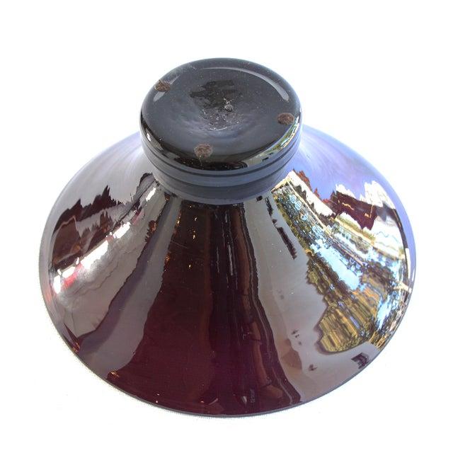 Wide Rim Pedestal Bowl by Blenko - Image 3 of 4