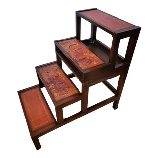 19th Century English George III Mahogany Metamorphic Library Step Ladder Table For Sale