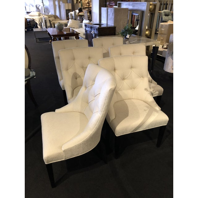 Transitional Modern Swaim Furniture Dining Chairs- Set of 6 For Sale - Image 3 of 13