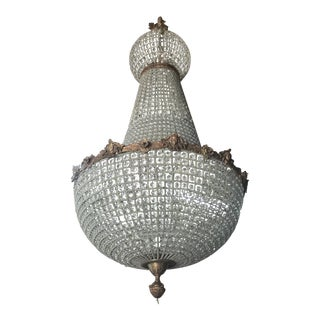 Jumbo Empire Crystal Chandelier For Sale