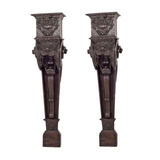 Early 19th Century Italian Baroque Corbels Brackets - a Pair For Sale