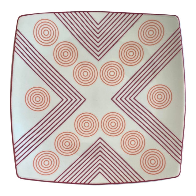 Mid-Century Modern Marguerita Mergentime Geometric Catchall Dish For Sale