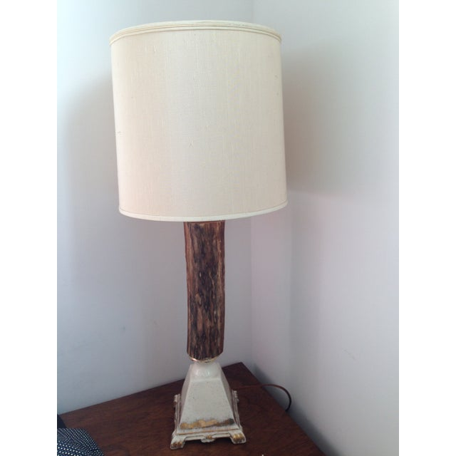 Vintage Rustic Farmhouse Table Lamp - Image 2 of 10