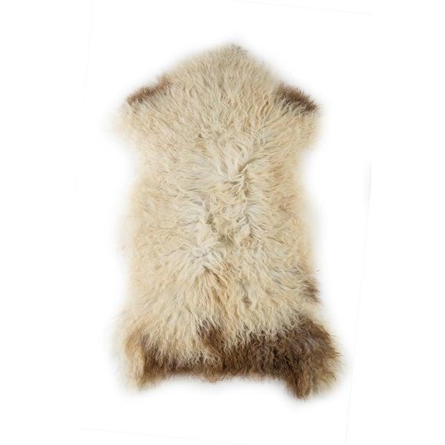 "Animal Skin Contemporary Long Soft Wool Sheepskin Pelt Rug - 2'0""x3'7"" For Sale - Image 7 of 7"