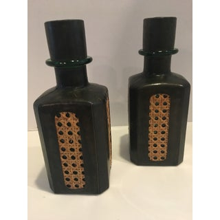 1960s Leather Wrapped Italian Bottles - a Pair Preview