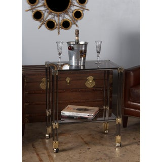 1970s Modern Nickel, Brass and Smoked Glass Bar Cart/Serving Table Preview