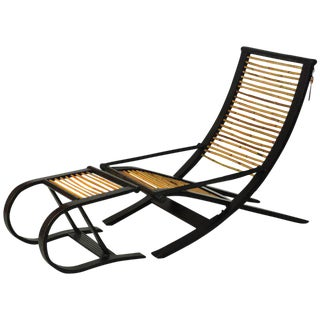 David Colwell C1 Reclining Lounge Chair and Foot Stool