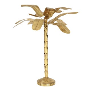 1970s Vintage Brass Banana Tree Sculpture For Sale