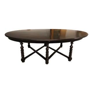 Custom Eliptic Oval Wood Table For Sale