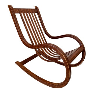 Che-Chent Rosewood Rocker by Salvador Vidal For Sale