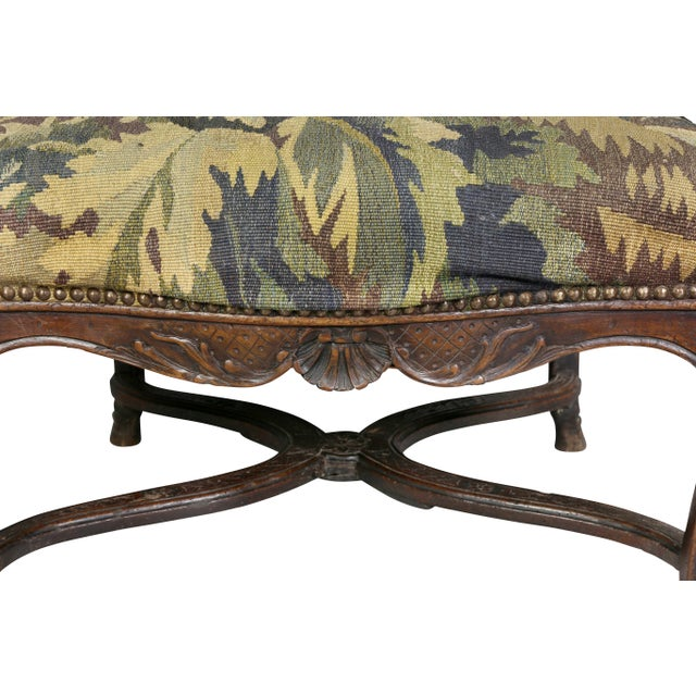 Early 18th Century Regency Walnut and Tapestry Armchair For Sale - Image 5 of 12