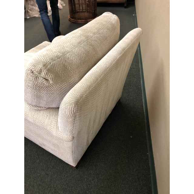 Contemporary Custom Chenille Arm Chair For Sale - Image 4 of 10