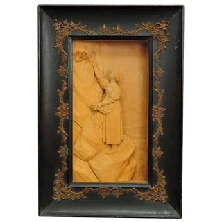 Fine Carved Wood Diorama 1900, By S. Steiner For Sale