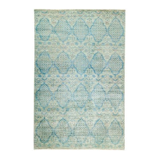"Persian Light Blue Hand-Knotted Rug- 5' 2"" X 7' 10"""