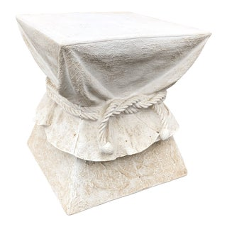 John Dickinson-Style Draped Accent Table For Sale
