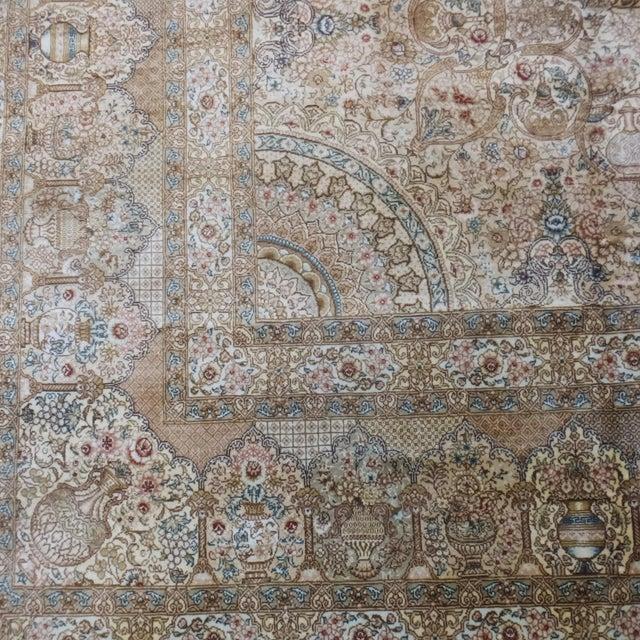 Silk Leon Banilivi Pure Silk Tabriz Carpet - 8' x 10' For Sale - Image 7 of 10