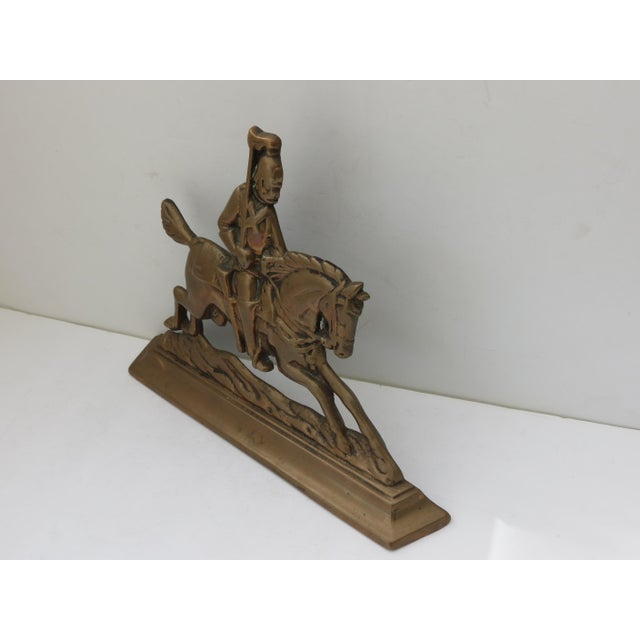 Brass Knight Fireplace Ornament For Sale In Los Angeles - Image 6 of 6