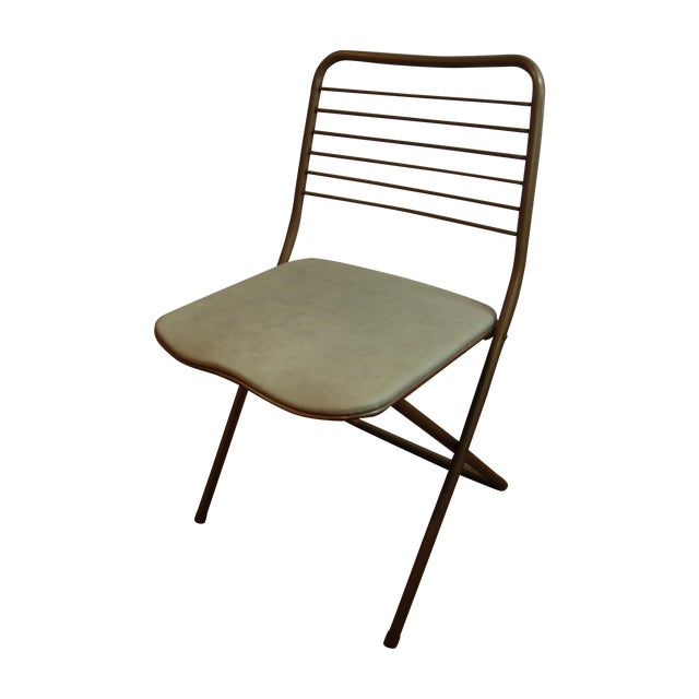 Vintage Stylaire Metal Folding Chairs - 4 For Sale