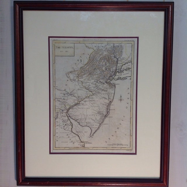 "1788 ""The Jerseys"" Hand Colored Engraved Map - Image 2 of 10"