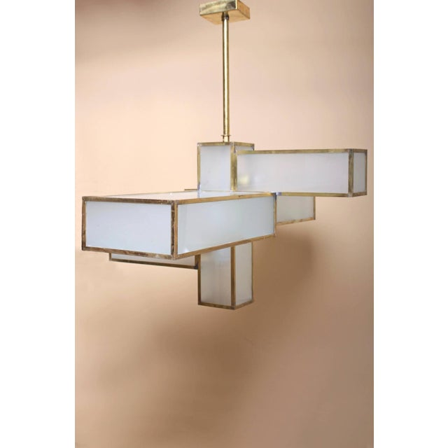 Geometric Chandelier Attributed to Jean Perzel For Sale In Los Angeles - Image 6 of 10