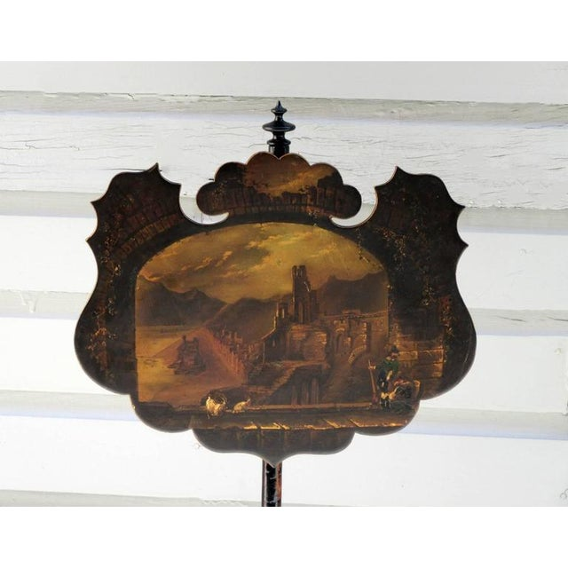 Pair of 19th Century English William IV Painted Papier Mâché Firescreeens For Sale In Charleston - Image 6 of 7