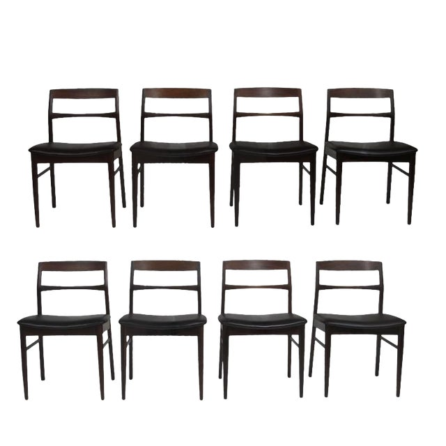 Rare Arne Vodder Solid Rosewood Dining Chairs - Set of 8 For Sale