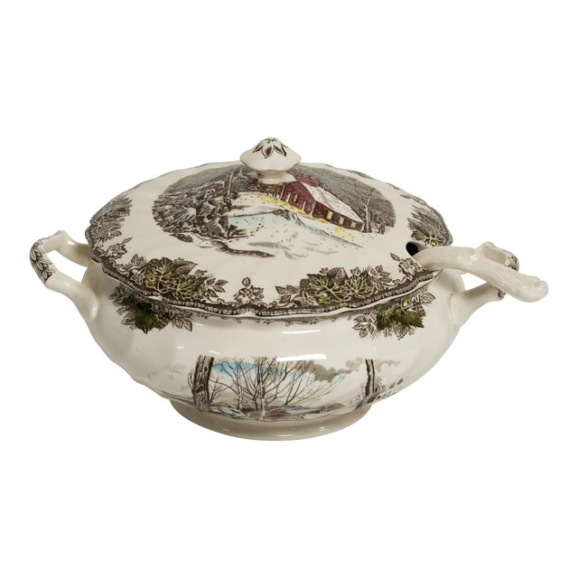 Soup Tureen Friendly Village Set by Johnson Brothers For Sale