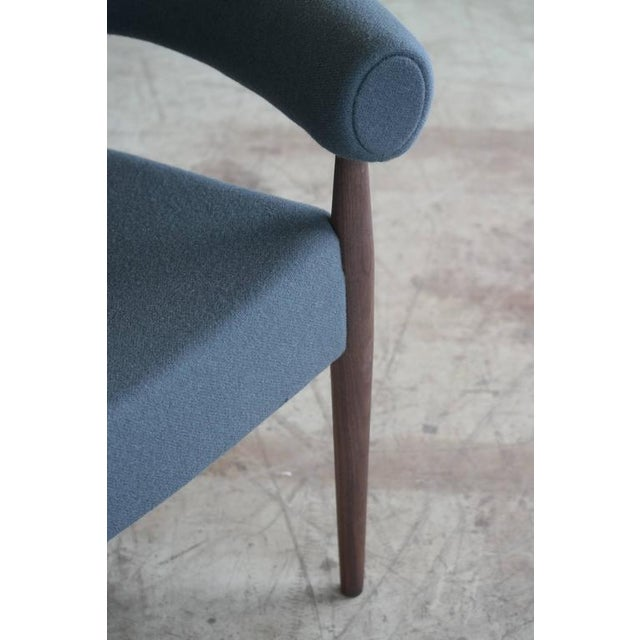 Nanna Ditzel for Getama Ring Chairs in Walnut and Wool - a Pair For Sale - Image 11 of 12