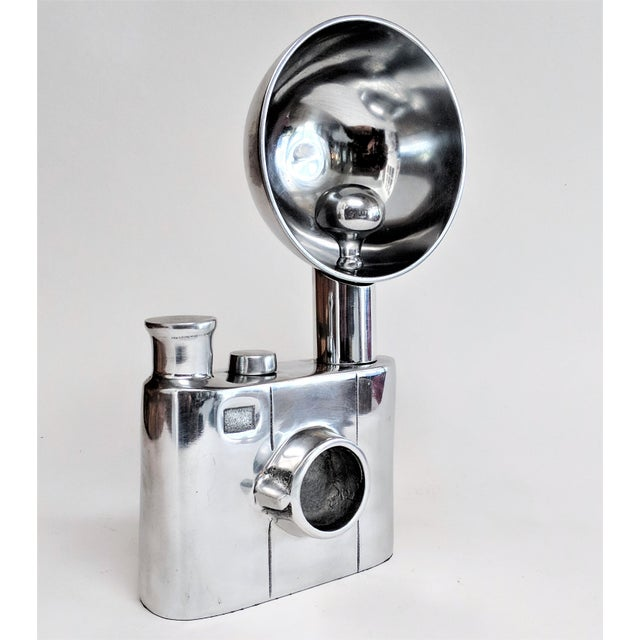 Aluminum Vintage Flash Camera Sculpture For Sale - Image 11 of 11