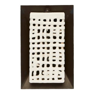 Basketweave Square Sconce by Clate Grunden For Sale