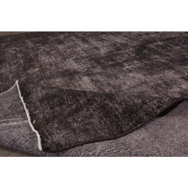 Vintage Wool Overdyed Rug For Sale In New York - Image 6 of 7