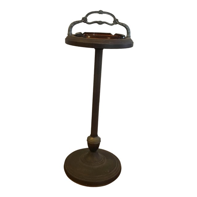 Vintage Smoking Cigar Floor Stand Ashtray For Sale