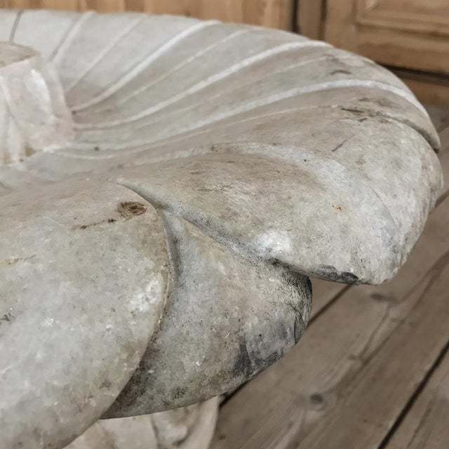 Late 19th Century 19th Century Carved Carrara Marble Garden Fountain For Sale - Image 5 of 12