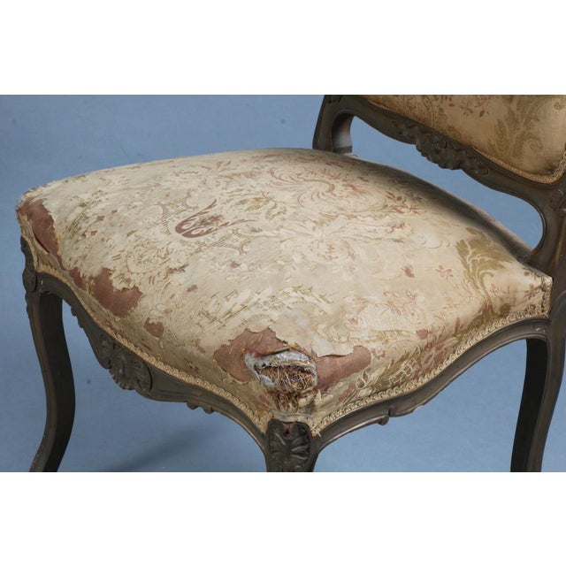 Pair of Rococo Chairs Early 19th Century For Sale - Image 6 of 8