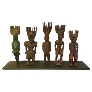 Vintage Hand-Carved Guatemalan Slings Shots - Set of 5 For Sale