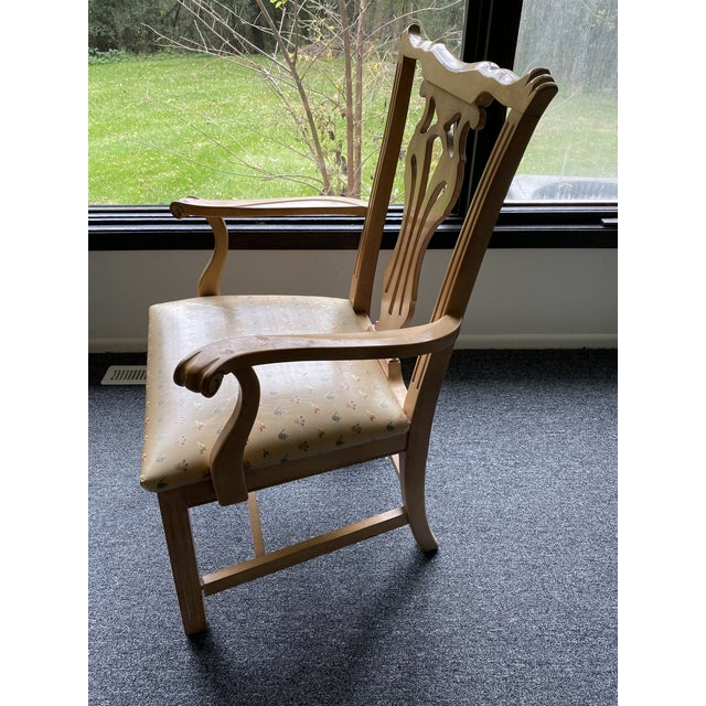 1980s Vintage Traditional Oak Dining Chairs- Set of 8 For Sale - Image 10 of 12