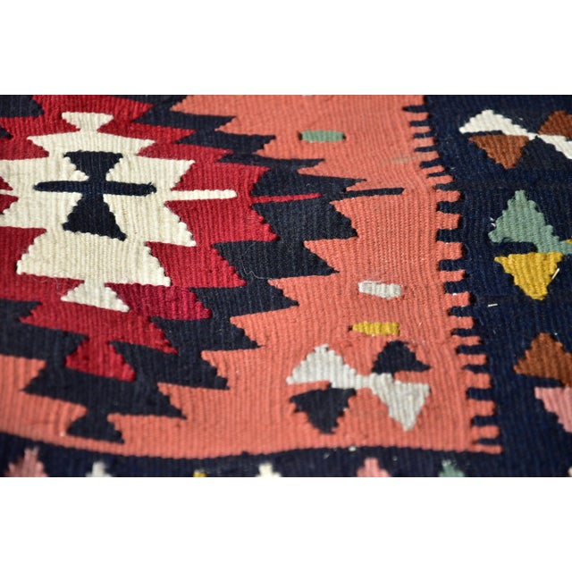 Textile Vintage Hand Knotted Traditional Southwestern Style Anatolian Kilim Rug For Sale - Image 7 of 13