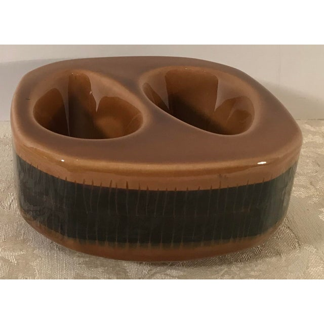 Mid-Century Modern Mid Century Vintage Brown Ceramic Egg Holder For Sale - Image 3 of 10