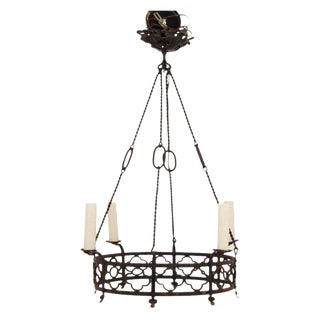 Gothic Hand Forged Wrought Iron Chandelier