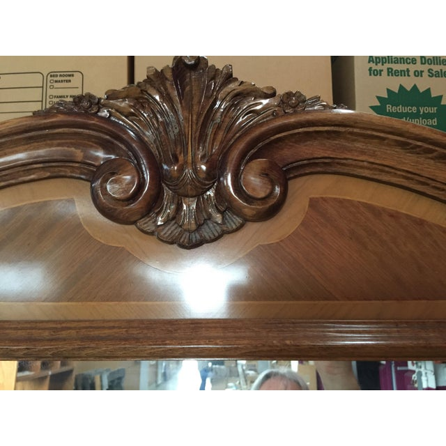 "Large French Pier MIrror, circa 1950. Carved details, This is big, It measures 65.76"" wide x 85"" tall x 3"" deep. In..."