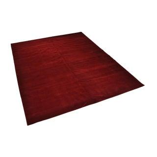Tibetan Fine Himalayan Wool Red Diamond Rug - 9' X 12'