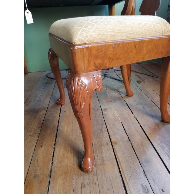 Early 20th Century Original 1930s Burlwood Maple Side Chair For Sale - Image 5 of 11