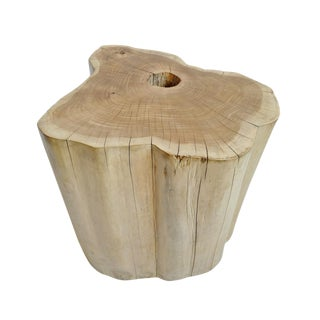 Teak Stump Stool / Side Table For Sale