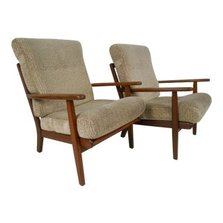 Pair of Aage Pedersen Lounge Chairs for Getama For Sale