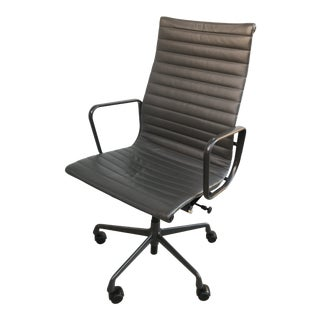 1990s Vintage Eames for Herman Miller Aluminum Group High Back Leather Executive Chair For Sale